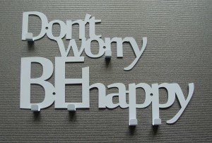 Wieszak na klucze DON'T WORRY BE HAPPY